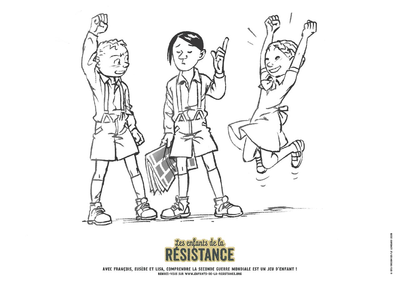 Coloriages Enfants De La Resistance Editions Le Lombard