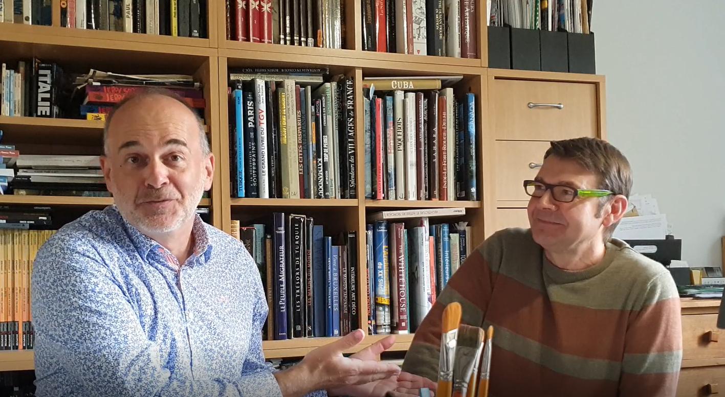 Philippe Aymond et Laurent-Frédéric Bollée, les auteurs des nouvelles aventures de Bruno Brazil, seront en live !