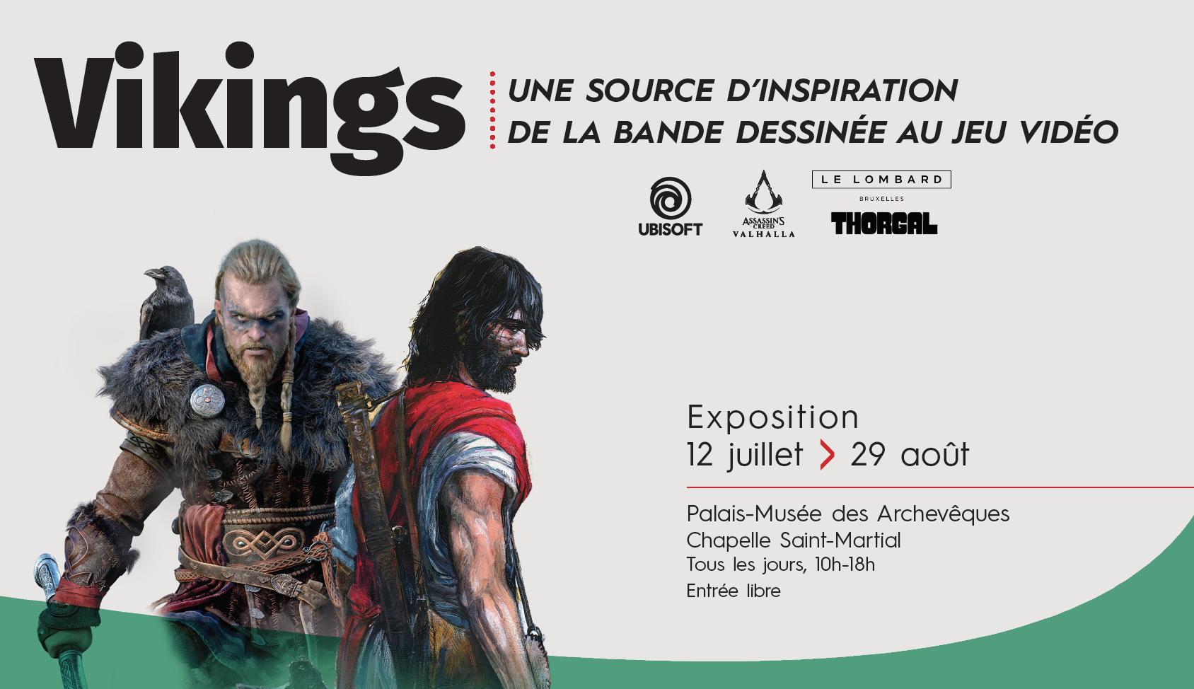 """Exposition """"Vikings : une source d'inspiration, de la bande dessinée au jeu vidéo"""""""