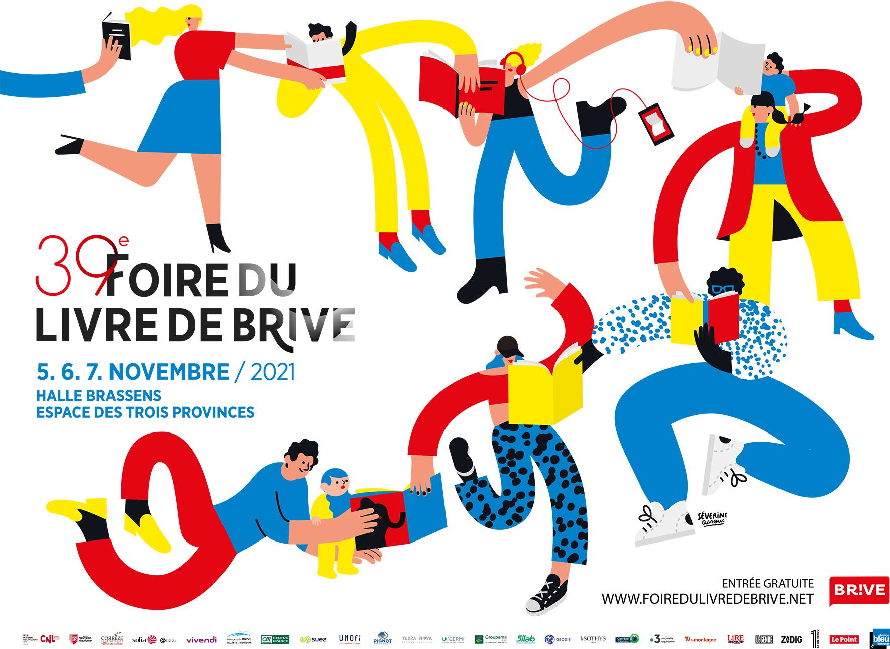 Foire du livre de Brive : Simon Spruyt (le Tambour de la Moskova), Ben Jurdic (Happy End)
