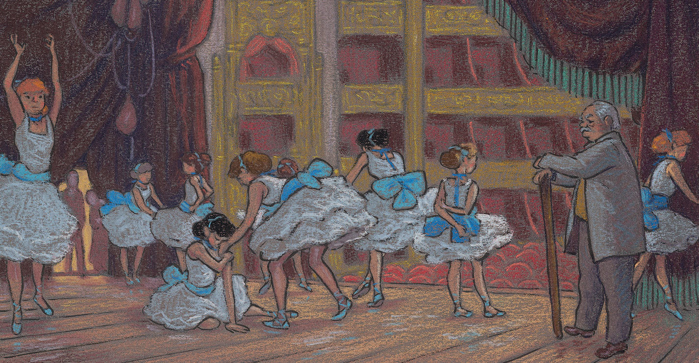 Degas : de vrais tableaux insérés dans la BD à retrouver !
