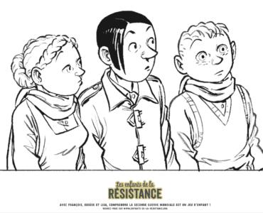 Tes coloriages Enfants de la Résistance ! 4